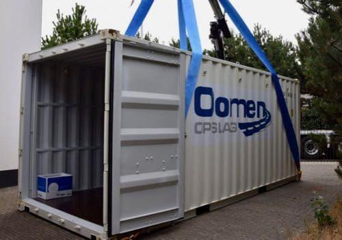 Inladen 20ft container